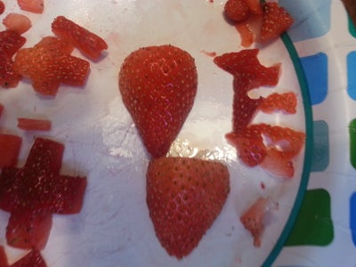 Cutting the Strawberries