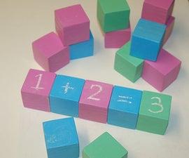 Chalkboard educational toy blocks