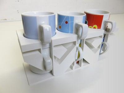"Espresso Cups Holder ""Weyland-Yutani Corp"" (3D Printed)"