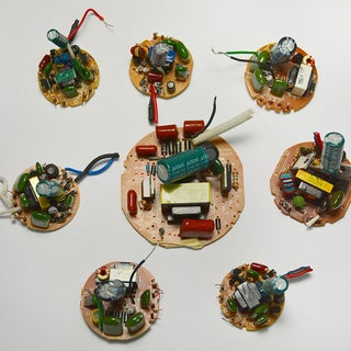 Salvaging Parts From Burnt Out Mini-fluorescent Lamps