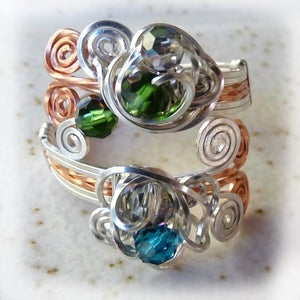 Wire Wrapped Wrap Ring