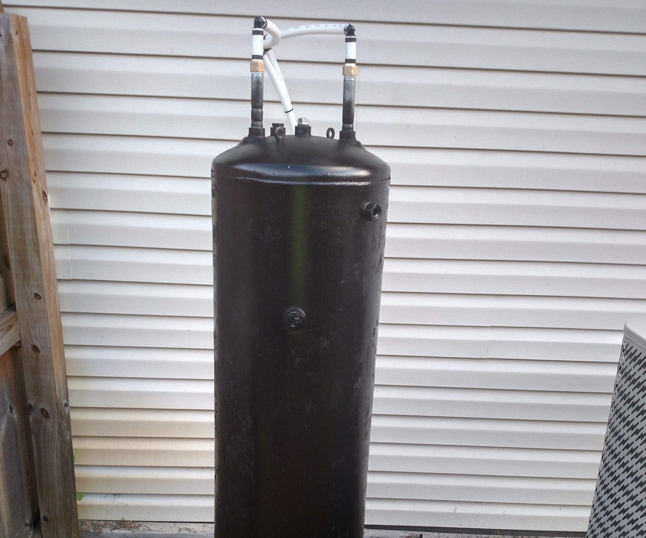 Make a Cheap Solar Batch Water Heater (Solar Preheater): 9 Steps