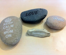 Laser-etched river stones - perfect for Mothers' Day gifts!