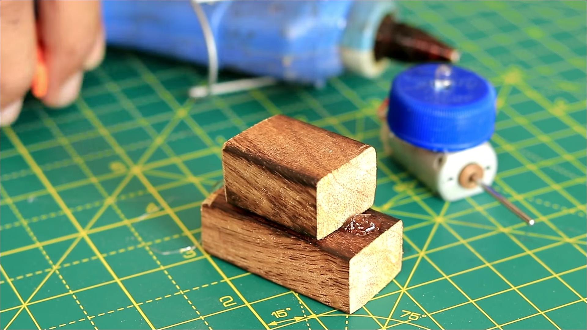 Picture of Preparing Wood Blocks