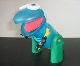 Make a Tyrannosaurus Rex (using plastic trash)