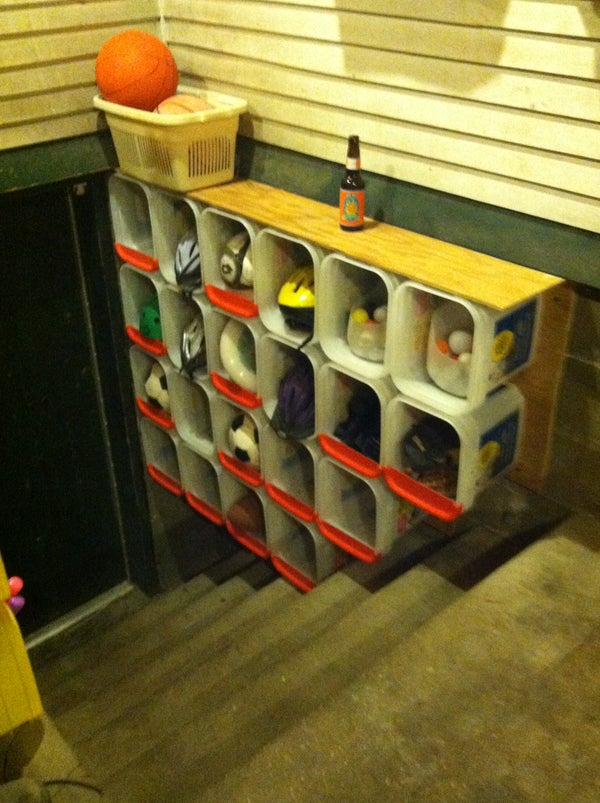 Kitty Litter Bucket Storage Shelve