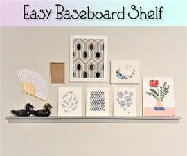 Easy Baseboard Shelf