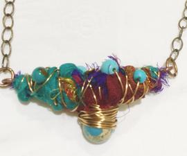Fiber Art Necklace