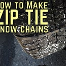 How to Make Emergency Zip Tie Snow Chains