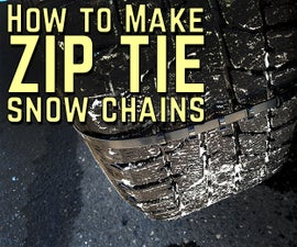 How to make Zip Tie Snow Chains