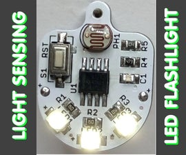 SMART LED FLASHLIGHT - a tiny personal emergency Light sensing LED flashlight, made from available components and very simple for replicate itself  in 20 minutes.