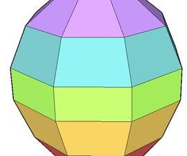 Model hot air balloon