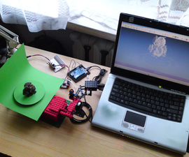 Let's cook: 3D scanner based on Arduino and Processing