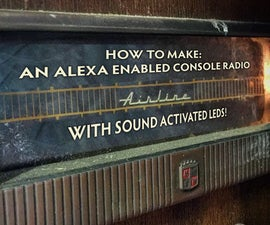 Alexa Enabled Console Radio With Sound Activated LEDs