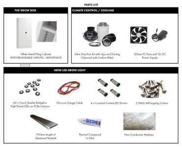 Parts List - Bill of Materials and UK Sources