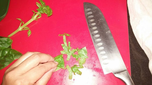 Meanwhile, Chop Up Your Fresh Basil