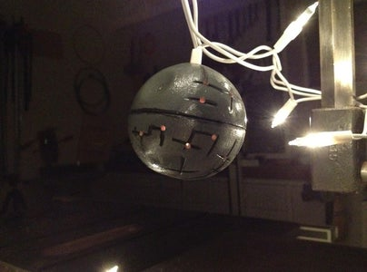 How to Make a Death Star Christmas Ornament