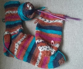 Socks Knitted From the Toe!