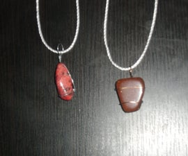 Polished rock Pendant Necklace