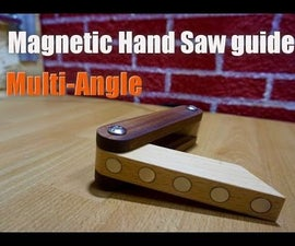 Multi-Angle Magnetic Hand Saw Guide