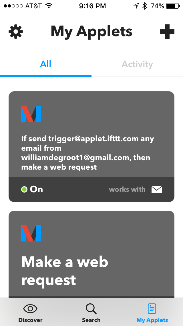 Picture of Set Up IFTTT