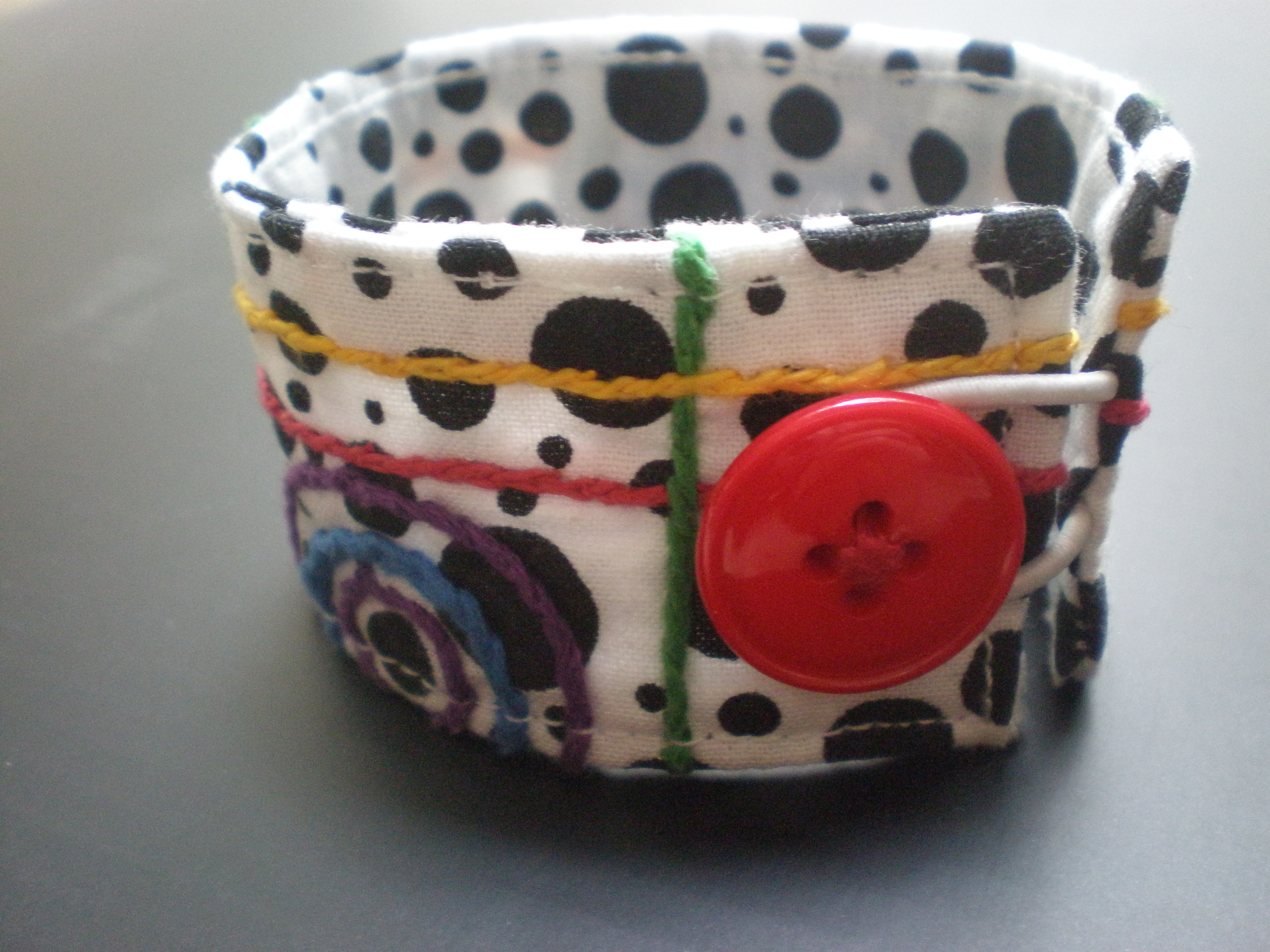 Picture of Embroidered Fabric Cuff Bracelet