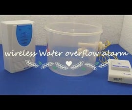 Simple Wireless Water Tank Overflow Alarm Simple Without Any Microcontroller