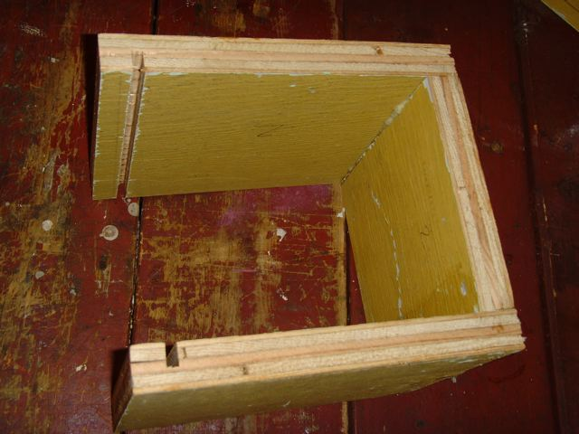 """Picture of Cut Grooves for Plexiglass on """"Camera House"""""""