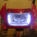 Motorbike headlight LED modification