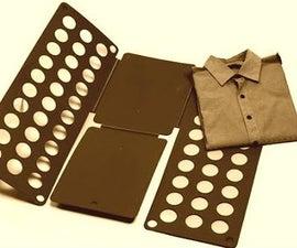HOW TO MAKE a T-shirt Folding Machine ! DIY / TUTORIAL