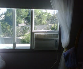 Installing A/C unit inside of a horizontally sliding window.