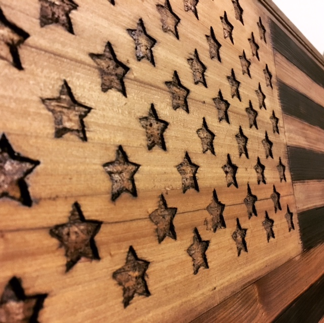 Picture of 2x4 American Flag Wall Art/coffee Table!!