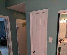Upgrade Small Linen Closet in Bathroom to Include Hamper