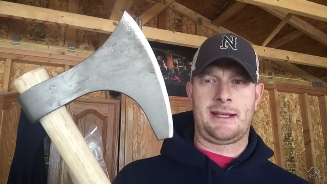 Picture of Budget Cold Steel Viking Hand Axe Improvement