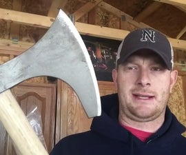 Budget Cold Steel Viking Hand Axe Improvement