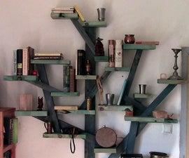 How to make a tree shelf