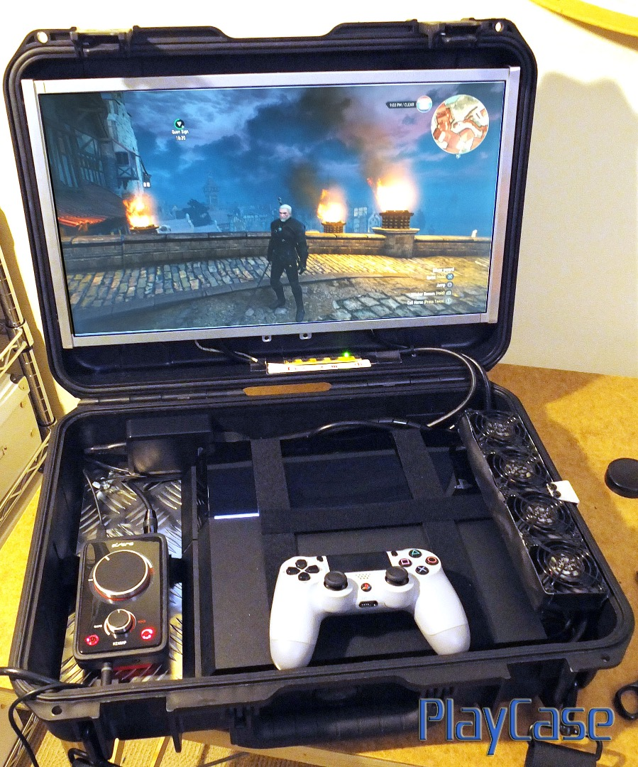 Picture of PlayCase V1.5: Modular Portable Console Carrying Case, Full HD 19 Inch, Added Speakers!
