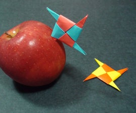 How to Make a Paper Pointy Ninja Star (Origami Throwing Star Shurikens)!