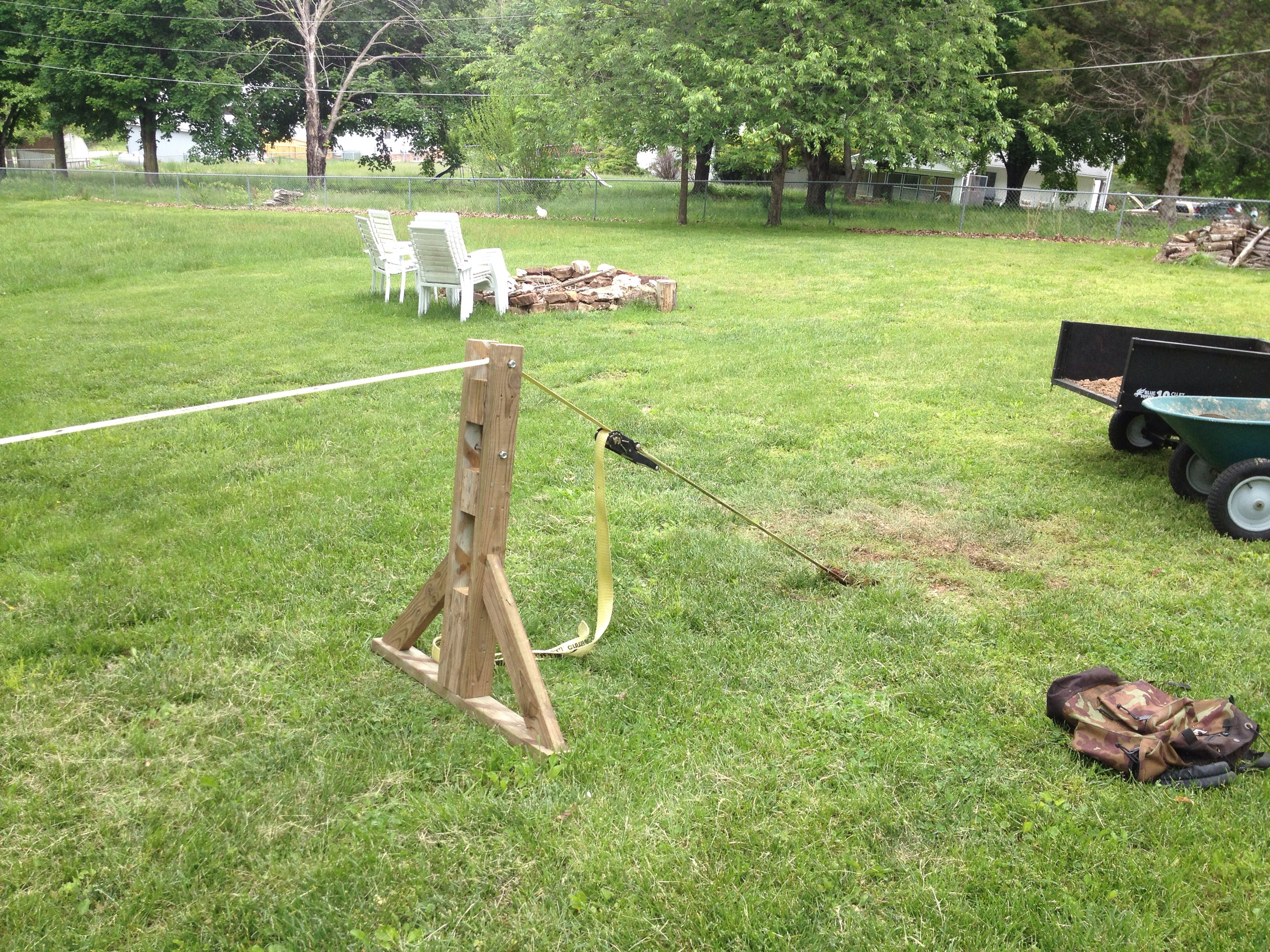 Picture of Slackline Without Trees - How to Build an A-Frame
