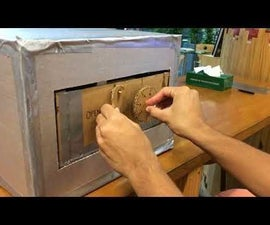 Cardboard Combination Lock Safe