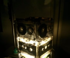 """Upcycled"" cassette tape lamp (Lasercutted)"