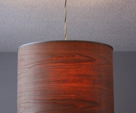 Ikea Rutbo turned Wood Veneer Pendant
