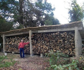 Building a Cob Wood Shed