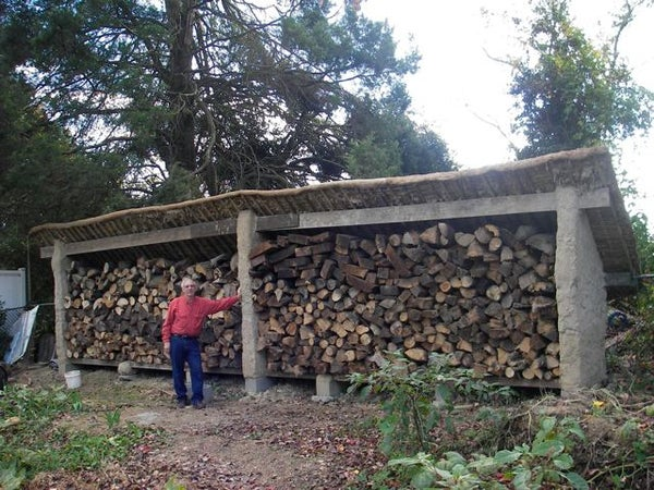 Building a Cob Wood Shed