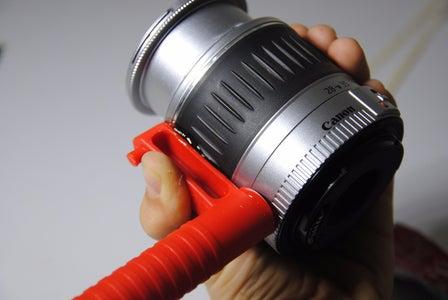 Glue & Zip-Tie the Handle on the Lens
