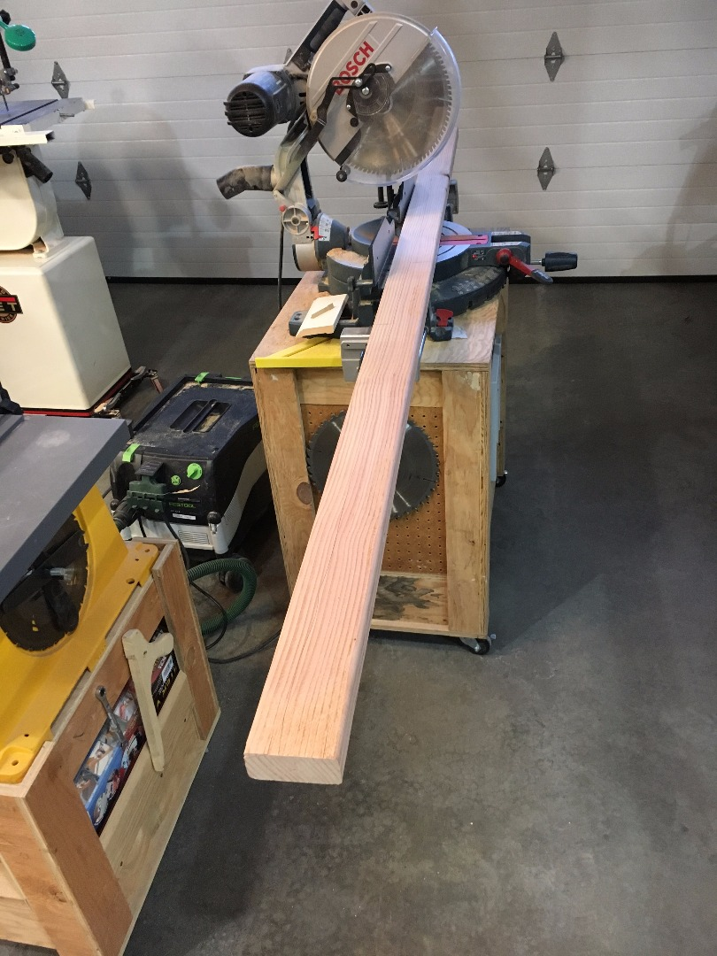 Picture of Cut Pieces to Rough Dimensions and Remove the Rounded Over Edges of 2x4