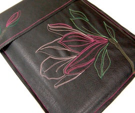 Flower-Stitched Laptop Cover