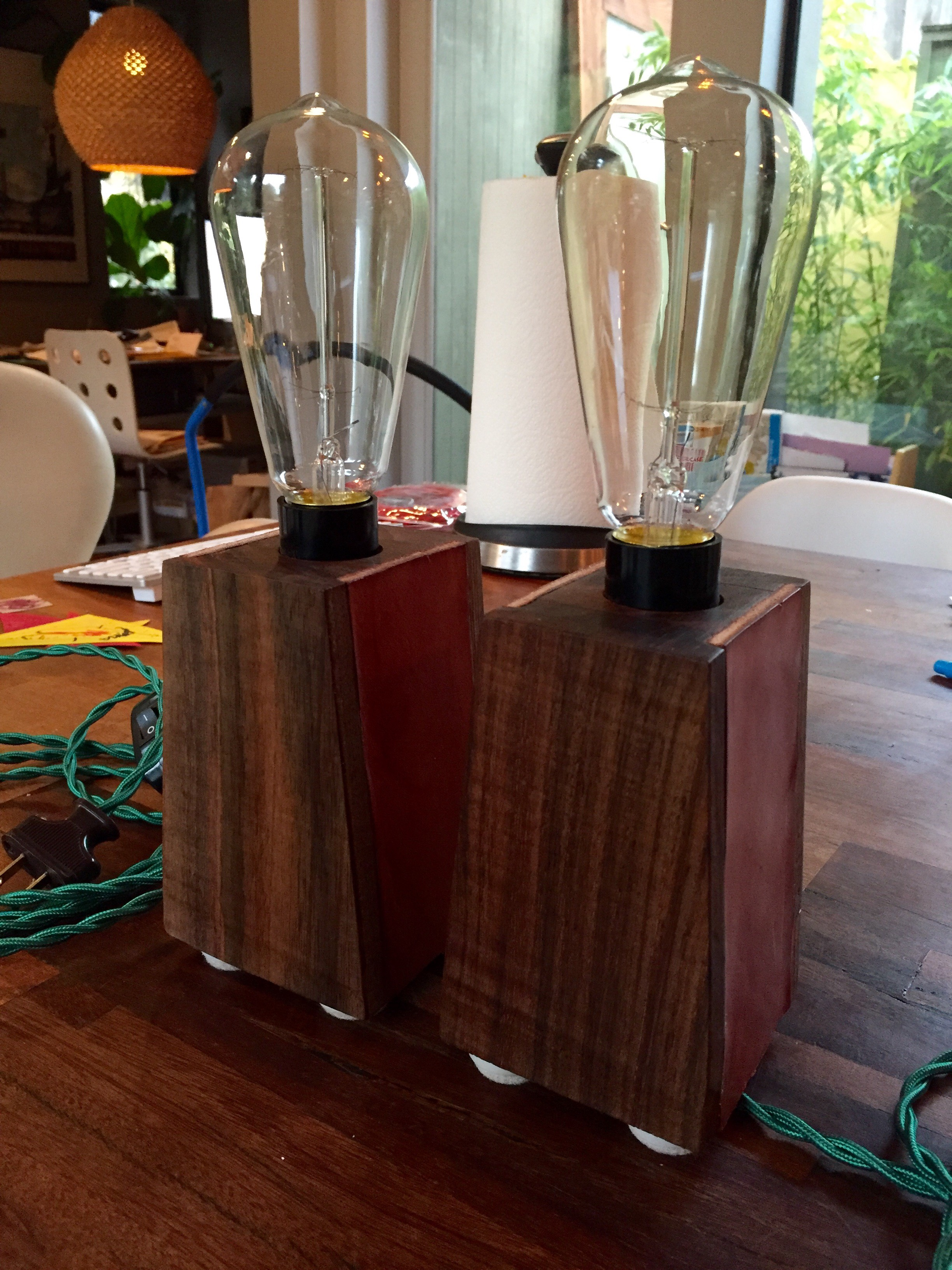 Picture of Walnut Side Table Lamps