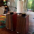 Walnut Side Table Lamps