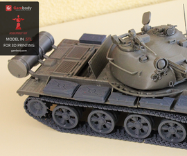 Modeling and Printing a Workable T-62 3D Tank